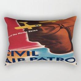 Vintage poster - Civil Air Patrol Rectangular Pillow