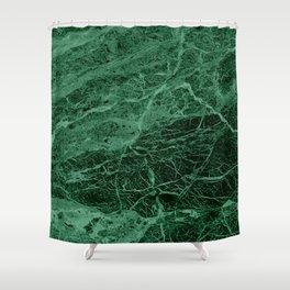 Dark emerald marble texture Shower Curtain