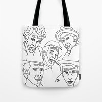 whisky Tote Bags featuring Tom Waits Whisky in a Teacup by Highly Anticipated