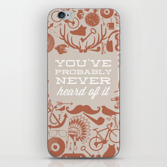 The Study of Hipsters iPhone & iPod Skin