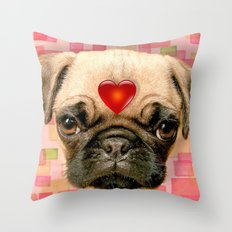 Puggy Throw Pillow