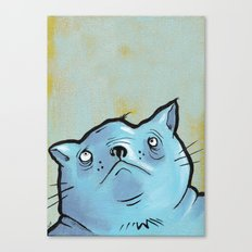 Sad Fat Cat Canvas Print