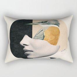 collage art / bird Rectangular Pillow