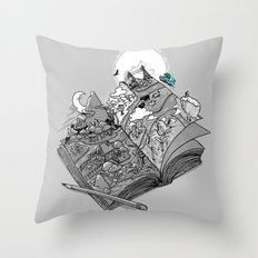 My Road Trip Journal Throw Pillow