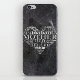 Mother on chalk iPhone Skin