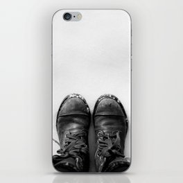 Shoes in Snow iPhone Skin