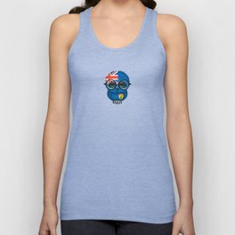 Baby Owl with Glasses and Turks and Caicos Flag Unisex Tank Top