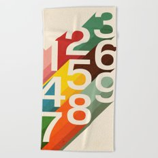 Retro Numbers Beach Towel