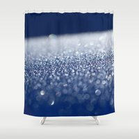 ice Shower Curtains featuring ICE by Lori Anne Photography
