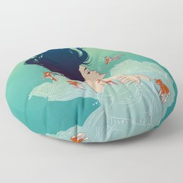 Underwater Lady Floor Pillow