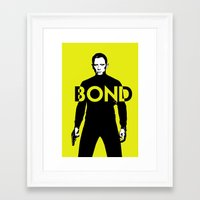 bond Framed Art Prints featuring Bond by anoop