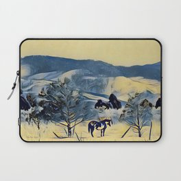Indian Horse Pony Yellow Winter by CheyAnne Sexton Laptop Sleeve