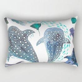 Whale Shark, Ray & Sea Creature Play Print Rectangular Pillow