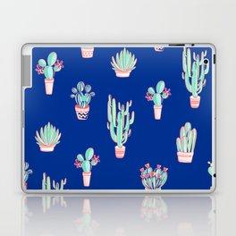 Little cactus pattern - Princess Blue Laptop & iPad Skin