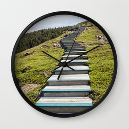 stairs up the hillside Wall Clock