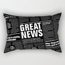 The Good Times Vol. 1, No. 1 REVERSED / Newspaper with only good news Rectangular Pillow