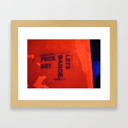 Photograph of graffiti at a squatters' house in Zagreb, Croatia Framed Art Print