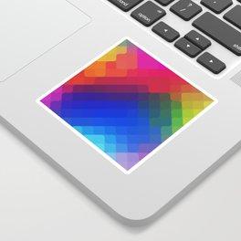 rhombus fantasy colorful Sticker