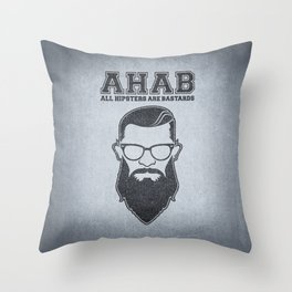 ALL HIPSTERS ARE BASTARDS - Funny (A.C.A.B) Parody Throw Pillow