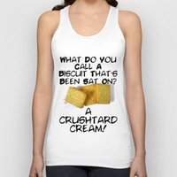 pun Tank Tops featuring Crushtard Cream Pun by georgestow