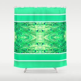 Designed on the 10/08/2017 Peacock Shower Curtain