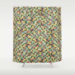 Square On Mosaic Shower Curtain