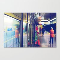 subway Canvas Prints featuring subway. by zenitt