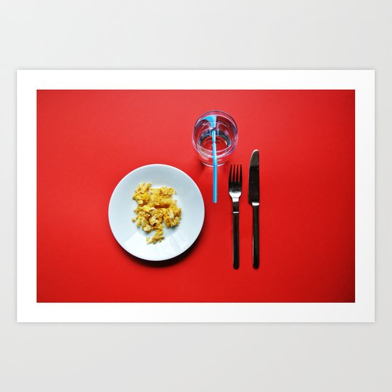 Primary Colours : Breakfast Art Print