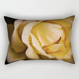 Apricot Rose Petals in the Rain Rectangular Pillow