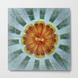 Bacterially Pattern Flower  ID:16165-042044-49241 Metal Print