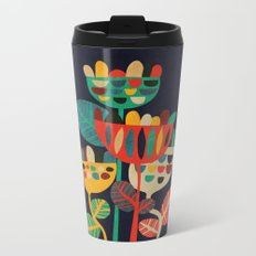 Wild Flowers Metal Travel Mug