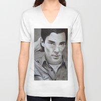 cumberbatch V-neck T-shirts featuring Benedict Cumberbatch | Sherlock by Marie | Gib