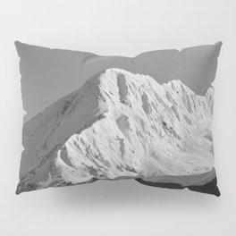 Portage Valley Mountain Glacier - B & W Pillow Sham