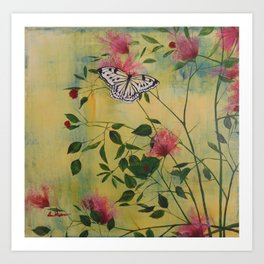 Rice Paper Butterfly Art Print
