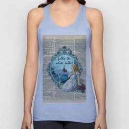 Follow The White Rabbit - Vintage Dictionary page Unisex Tank Top