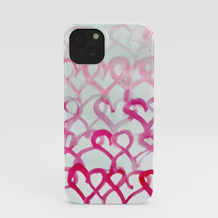 ombre hearts iPhone Case