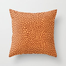 Reptile Pattern Rust and Peach Throw Pillow