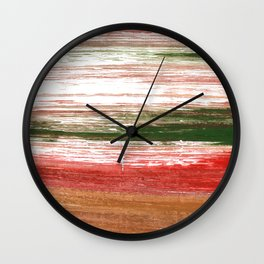 Copper abstract watercolor Wall Clock
