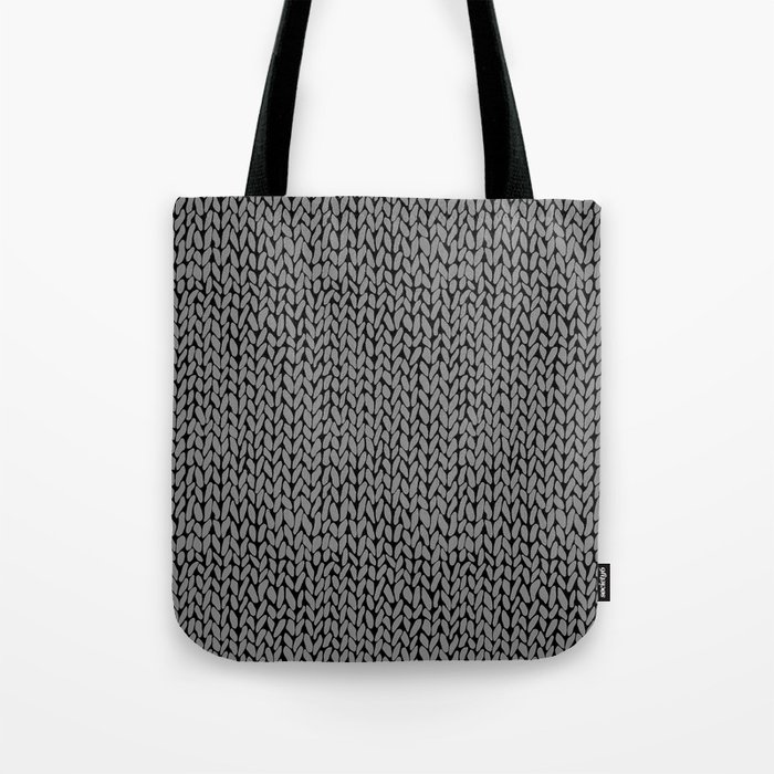 dc89645dd5e20 Hand Knit Dark Grey Tote Bag by projectm