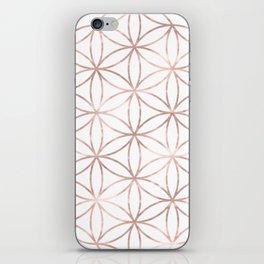 Mandala Rose Gold Flower of Life iPhone Skin