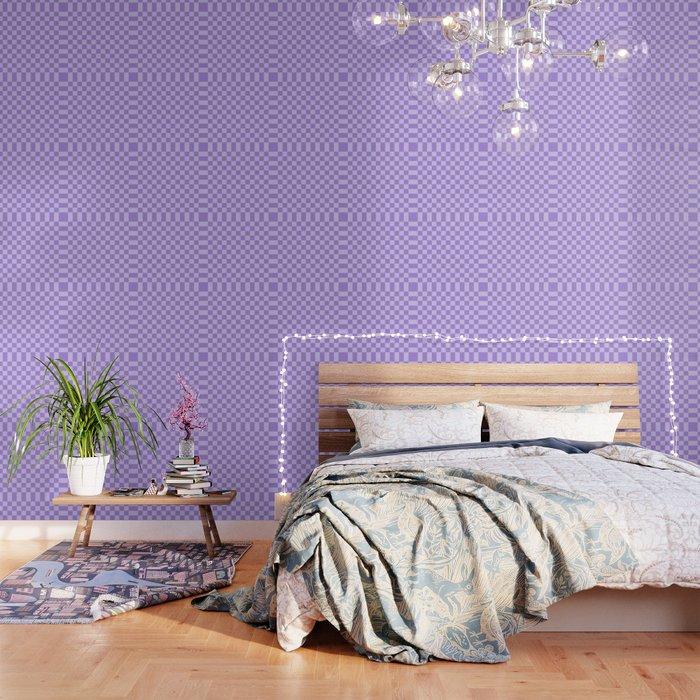 Lavender Check Wallpaper