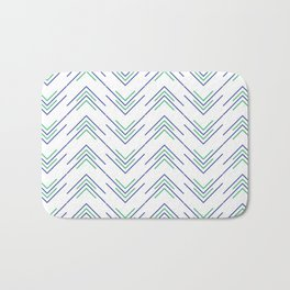 Sharp ZigZag Pattern Bath Mat
