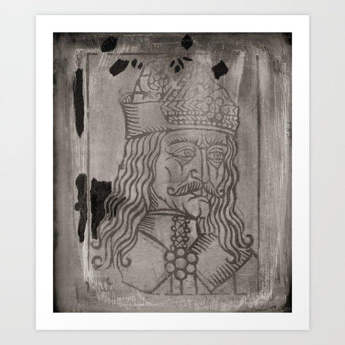 Vlad The Impaler - A Screen Print Portrait Art Print