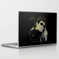 lou reed Laptop & iPad Skins featuring Lou Reed by Adam Metzner