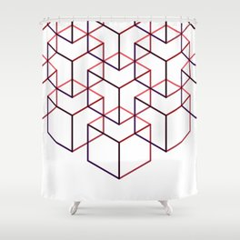 Cubes II Shower Curtain