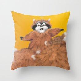 Raccoon Series: Come Look! Throw Pillow