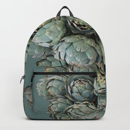 Archie talks (Artichokes) in teal Backpack