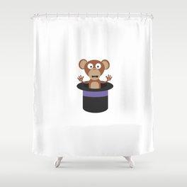 sweet monkey in hat Shower Curtain
