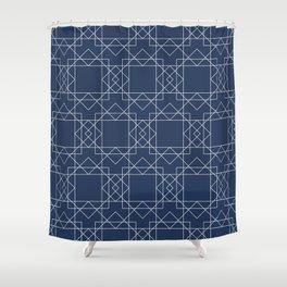Boho Blues Shower Curtain