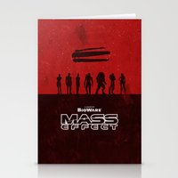 mass effect Stationery Cards featuring Mass Effect 1 by Bill Pyle